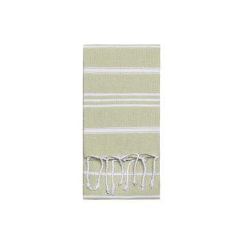 Nine Space Stripe Hand Towel 2 ea, 31 x 15, Green, 1 ea