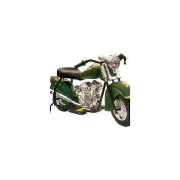 Giggo Toys Little Vintage 6V Battery Powered Indian Motorcycle Color: Green