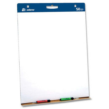 Adams Business Forms ABFEP927341M Easel Pads wCarry HandlePlain 50 SHPD 2 PDCT White
