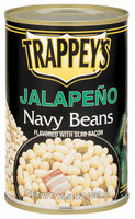Trappey's Flavored W/Slab Bacon Jalapeno Navy Beans 15.5 Oz Can
