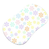 Stwd Pastel Floral Woven Fitted Bassinet Sheet