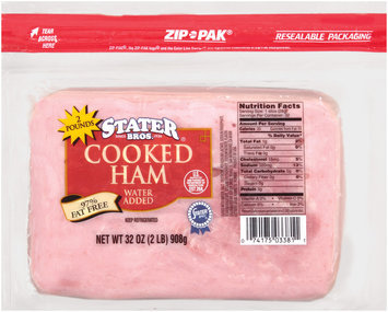 Stater Bros. Cooked Ham 32 Oz Zip Pak
