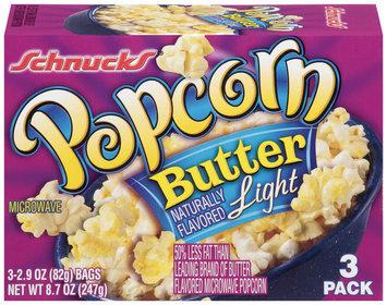 Schnucks Butter Light 2.9 Oz Bags  Popcorn 3 Ct Box