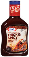 Kraft Thick & Spicy Barbecue Sauce 18 oz. Bottle