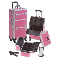 Seya Professional Cosmetic Makeup Case Color: Pink