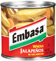 Embasa® Whole Jalapenos in Escabeche 12 oz. Can