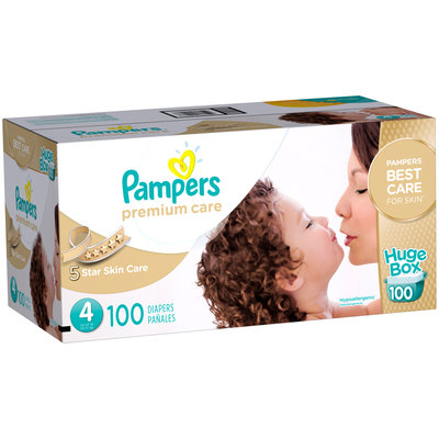 Premium Pampers Premium Care Diapers Size 4 100 count