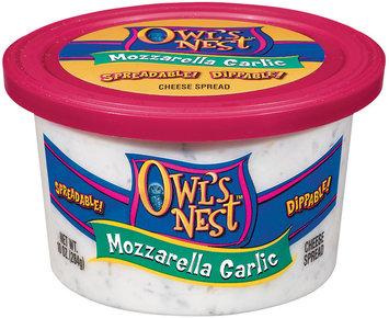 Owl's Nest Mozzarella Garlic Cheese Spread 10 Oz Tub