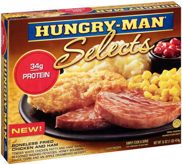 Hungry-Man® Selects Boneless Fried Chicken and Ham 16 oz. Box