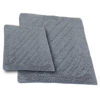 Textile Decor Castle 2 Piece 100% Cotton Shooting Star Reversible Bath Rug Set, 34 H X 21 W and 40 H X 24 W