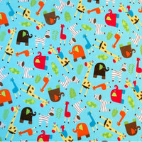 Stwd Safari Animals Fitted Bassinet Sheet