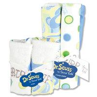 Trend Lab Bouquet Set - Dr. Seuss Blue - Bib & Burp Cloth - 30502