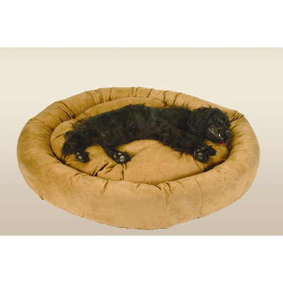 I Dog Beds Snoozer Round Bolster Microsuede Dog Bed Olive, Extra Large - 46L x