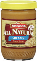 Springfield® All Natural Creamy Peanut Butter 16 oz Jar