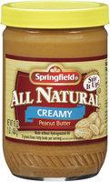 Springfield® All Natural Creamy Peanut Butter 16 oz Jar