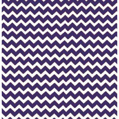 Stwd Chevron Zigzag Crib Sheet Color: Purple