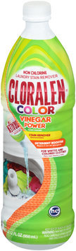 Cloralen® Color Vinegar Power Non Chlorine Laundry Stain Remover 32.12 fl. oz. Bottle