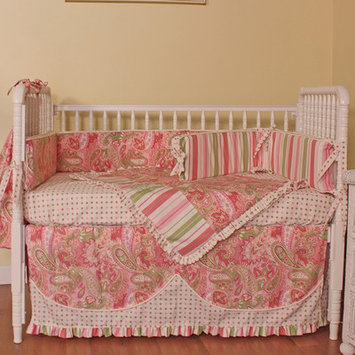 Cribs Hoohobbers Paisley 4 Piece Crib Bedding Set