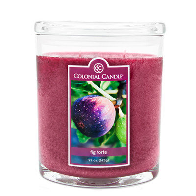 Fragranced in-line Container CC022.2108 22oz. Oval Fig Torte Candles - Pack of 2
