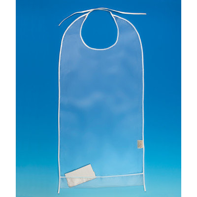 Ableware Clear Eating Bib with Cuff