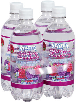 Stater Bros.® Flavored Sparkling Water Raspberry Blackberry 4-20 fl. oz. bottles