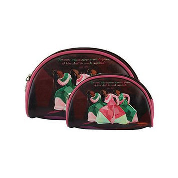 Africanamericanexpressions Aka 2 Piece Cosmetic Bag Set