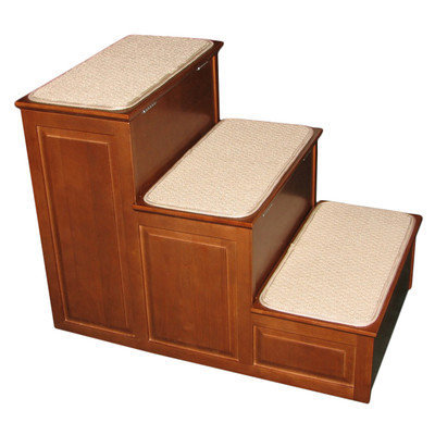 Crown Pet Products Inc Crown Pet Designer Pet Steps with Storage Mahogany