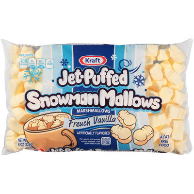 Kraft Jet-Puffed Snowman Mallows French Vanilla Marshmallows 8 oz. Bag