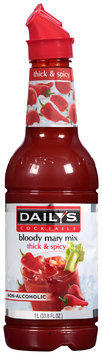 Daily's® Cocktails Non-Alcoholic Thick & Spicy Bloody Mary Mix 33.8 fl. oz. Bottle