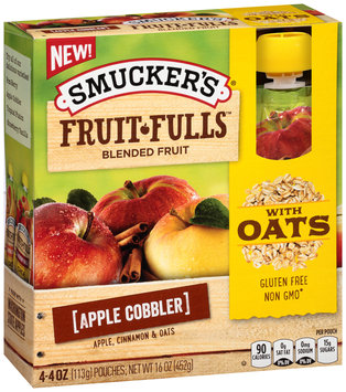 Smucker's® Fruit Fulls Apple Cobbler Blended Fruit 4.4 oz. Box