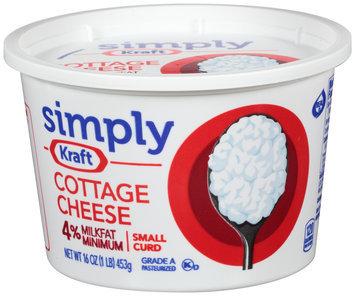 Simply Kraft Small Curd 4% Milkfat Minimum Cottage Cheese 16 oz. Tub