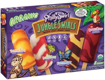 PhillySwirl® Jungle Swirls Organic Smooth Fruit Sorbet Bars 6-1.65 fl. oz. Bars
