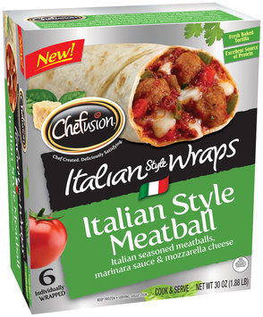Chefusion™ Italian Style Meatball Wraps 6 ct Box