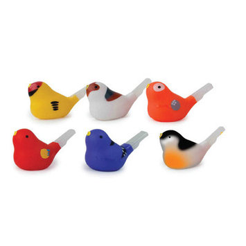 Kikkerland Bird Shaped Water Whistle in Assorted Colors