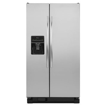 Amana 25 Cu Ft Stainless Steel Side By Side Refrigerator