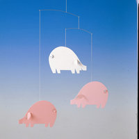 Flensted Mobiles Piggy Mobile in Pink / Light Blue