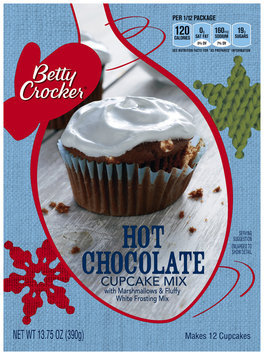 Betty Crocker™  Hot Chocolate Cupcake Mix with Marshmallow & Fluffy White Frosting