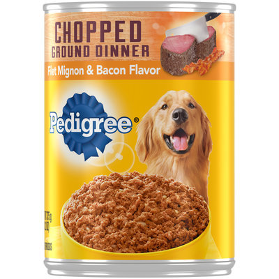 Pedigree® Chopped Ground Dinner Filet Mignon & Bacon Flavor Dog Food