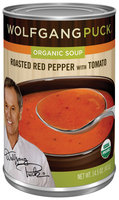 Wolfgang Puck Roasted Red Pepper W/Tomato Organic Soup 14.5 Oz Can