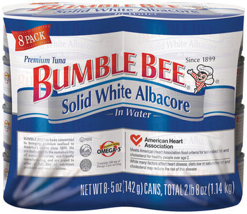 Bumble Bee Albacore Solid White In Water 5 Oz Cans Tuna 8 Ct Wrapper