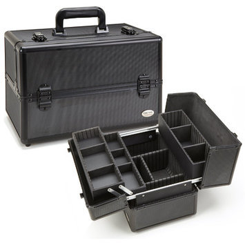Seya All Black Aluminum Professional Makeup Case