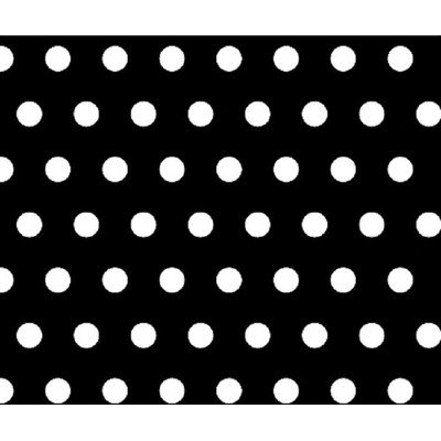 Stwd Polka Dots Portable Mini Fitted Crib Sheet Color: Black