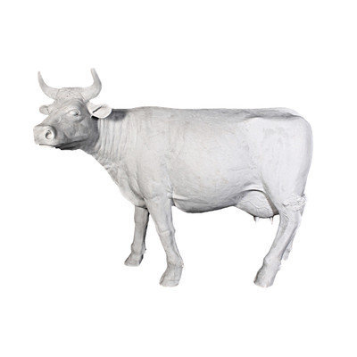 Design Toscano The Grand-Scale Wildlife Animal Unpainted Holstein Cow Statue
