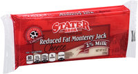 Stater Bros.® Reduced Fat Monterey Jack Cheese 8 oz. Brick