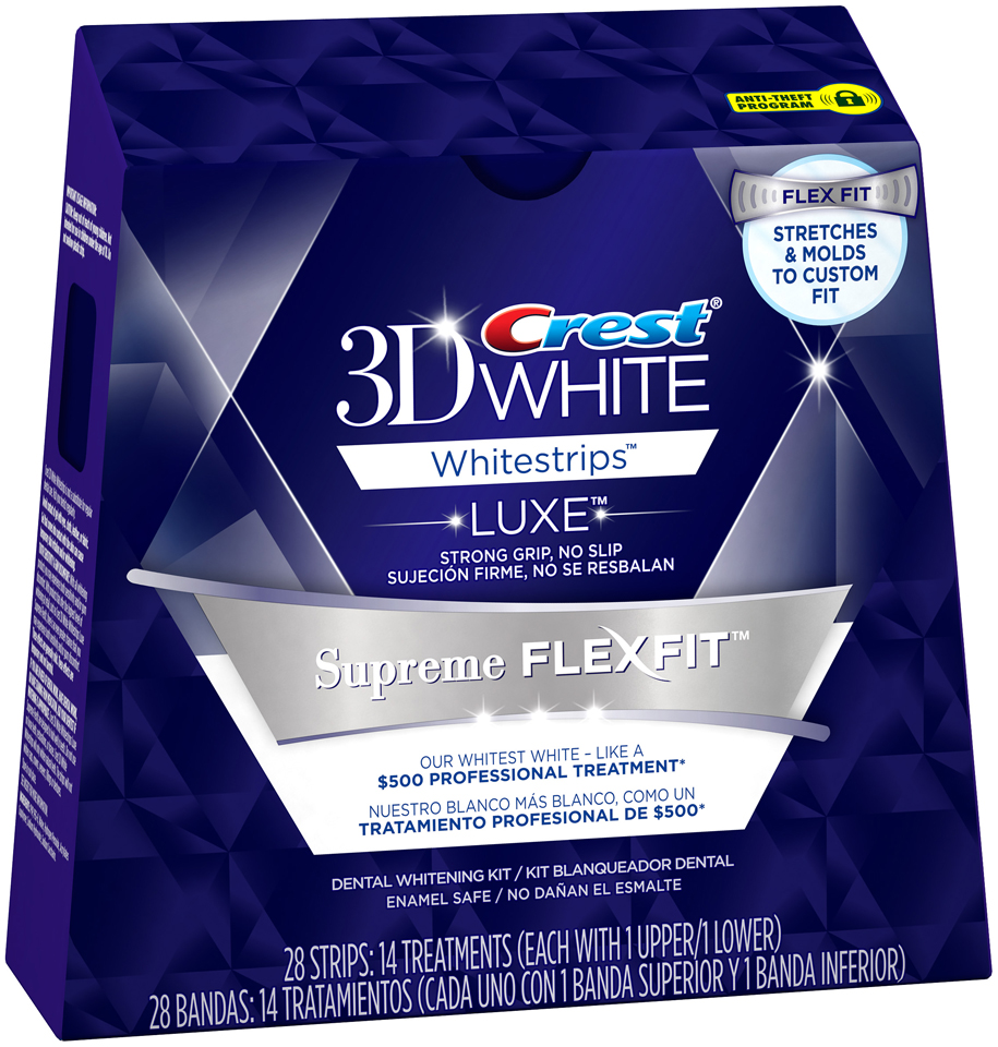 Whitestrip 3D White Luxe Crest 3D White Luxe Whitestrips Supreme FlexFit - Teeth Whitening Kit 14 Treatments