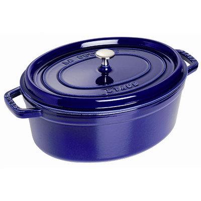 Staub Oval 7 qt. Cocotte in Dark Blue