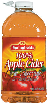Springfield 100% Juice from Concentrate Apple Cider 128 Oz Plastic Bottle
