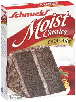 Schnucks Moist Classics Chocolate Deluxe Cake Mix 18.25 Oz Box