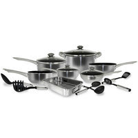 Cook Pro 534 18 PC Belly Stainless Cookware Set with NonStick Coating