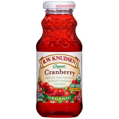 R.W. Knudsen Family® Organic Cranberry 100% Juice 8 fl. oz. Bottle